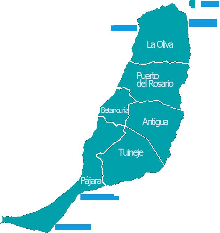 Mapa De Fuerteventura Municipios.Municipios De Fuerteventura Islas Canarias